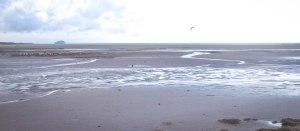 The nothingness of Belhaven Bay, Dunbar. January 28, 2015