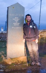 Starting out at Dunnet Head, just after 8am. January 3, 2015