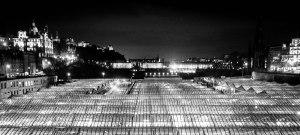 The glass roof of Edinburgh's Waverley Station. January 27, 2015