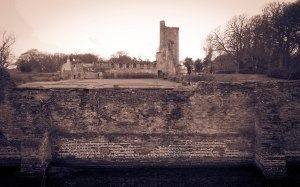 The ruins of Caister Castle, one of many things which I did not know of before this walk. There is much serendipity that accompanies the route. February 20, 2015