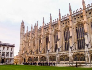 The queue outside King's College Chapel for sung Eucharist. I was struck by the overwhelmingly awesome atmosphere once inside - but there are many photographs of the interior, taken in much better light and by much better photographers than me.   February 26, 2015