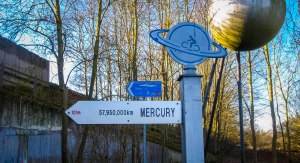 This puts things into perspective: 12 miles to walk from the outskirts of York to Selby; a few more between Mercury and the Sun (the large steel ball in the top right hand corner). February 8, 2015