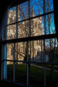 Selby Abbey, as seen from my hotel room. February 8, 2015