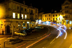 Regardless of the poem, Frome is not quite as pleasant as I remember it. I struggled to find a nice aspect of the town for a photo, so here's one taken with the conceit of a slow shutter, and with the good fortune of a passing fire engine. March 10, 2015