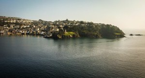 It's nice to see the ocean again. Here, Polruan as seen from Fowey. March 18, 2015